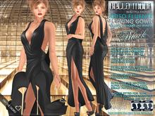 Bella Moda: Abito Fluente Black Flowing Gown & Shoes
