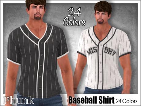 [Phunk] Mens Baseball Shirt (24 Colors)