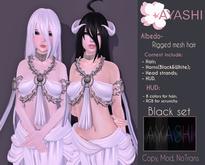 [^.^Ayashi^.^] Albedo hair-Black set