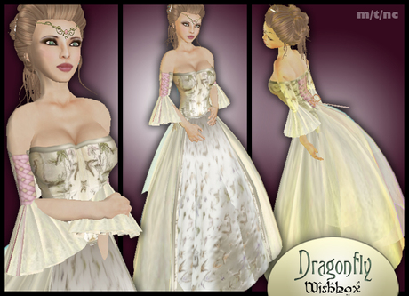[Wishbox] Dragonfly - Beautiful Fairy Tale Gown Medieval Fantasy
