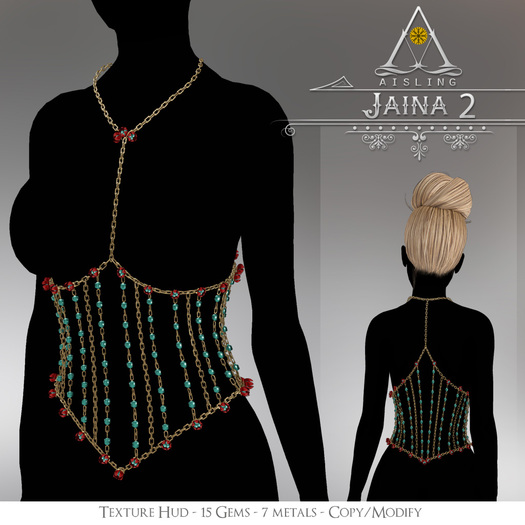 .aisling. Jaina Chestlace Style 2 - Maitreya, Slink