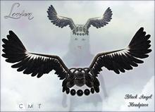 LORIEN BLACK ANGEL HEADPIECE