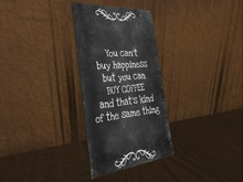 Motivational poster - coffee