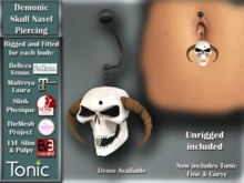 [TKS] Demonic Skull Navel Piercing - Now with Tonic Beauty