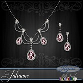 ::: Krystal ::: Julianne - Jewelry Set - Platinum - MultiJewel