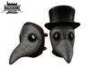 BackBone Plague Doctor Mask w/ Top Hat Brown & White