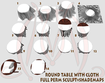Round Table with Cloth FULL PERM SCULPT SHADEMAPS