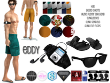 Flippant - Eddy Board Shorts w/accessories