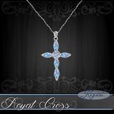 :::Krystal::: Royal Cross - Necklace - Platinum - Arctic Prism