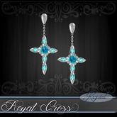 :::Krystal::: Royal Cross - Earrings - Platinum - Australian Opal