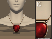 (Kunglers) Lidia necklace - Ruby