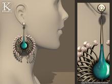 (Kunglers) Vilma earrings - Teal
