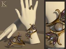 (Kunglers) Patricia bracelet/ring - lavender