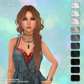 /Wasabi Pills/ Dakota Mesh Hair - B&W