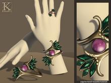 (Kunglers) Patricia bracelet/ring - teal