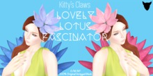 Kitty's Claws: Lovely Lotus Fascinator - Indigo