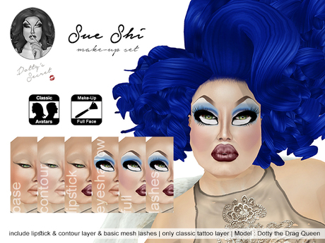 Dotty's Secret - Sue Shi - Drag Queen Make-up Set
