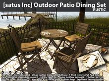 [satus Inc] Outdoor Patio Dining Set - Rustic