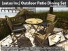 [satus Inc] Outdoor Patio Dining Set - Rubberwood