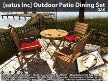 [satus Inc] Outdoor Patio Dining Set - Oak