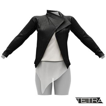 TETRA - Biker Leather Jacket (Black)
