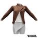 TETRA - Biker Leather Jacket (Brown)
