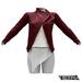 TETRA - Biker Leather Jacket (Burgundy)