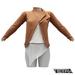 TETRA - Biker Leather Jacket (Light Brown)