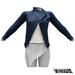 TETRA - Biker Leather Jacket (Navy)