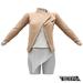 TETRA - Biker Leather Jacket (Nude)