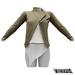 TETRA - Biker Leather Jacket (Olive)