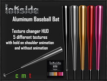 Inkside - Aluminum Baseball Bat with Texture HUD