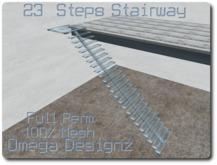 23 steps Glass Staircase 100% Mesh Full Perm