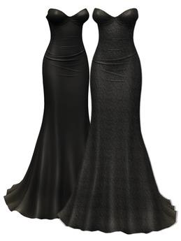 *Just BECAUSE* Giselle Gown - Black - Maitreya,Belleza,Slink
