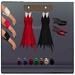 Elysium - Fedya pearl earrings - ruby