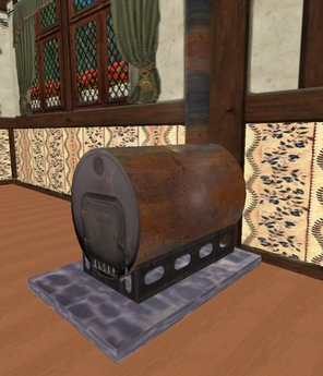 Old Oil Barrel Stove by FreeWee