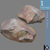 3D / Real Rock I / 1 land impact