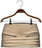 !APHORISM! Jas Leather Skirt - Off White
