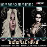 :Diamante: Inner Rage Chained Horns (Original Mesh) DEMO