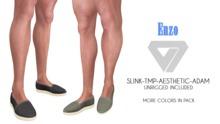 BLACK FRIDAY SALE - ILLI - [SLink,MeshProject Men,Aesthetic,Adam] Enzo Plain Espadrilles (HUD Driven) - PROMO