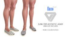 ILLI - [SLink,MeshProject Men,Aesthetic,Adam] Enzo Striped Espadrilles (HUD Driven) - PROMO