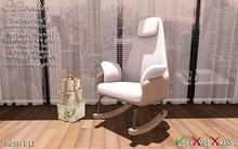 """Aphrodite """"Mothercare"""" Modern nursing rocking chair"""