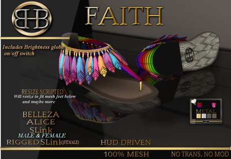 !!BHB!! FAITH SANDALS WITH PRIDE HUD ( SUMMER )