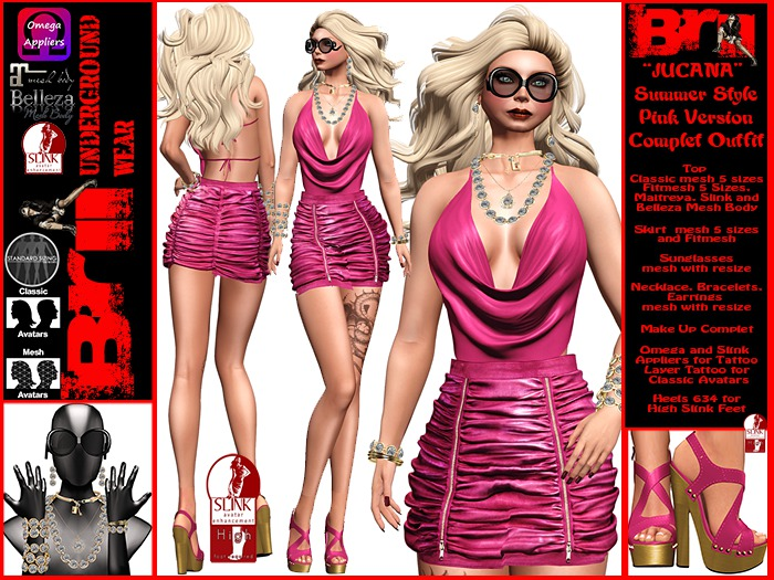**JUCANA PINK VERSION SUMMER STYLE COMPLET OUTFIT **