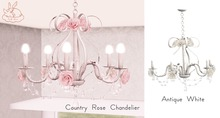 +Half-Deer+ Country Rose Chandelier [Antique White]