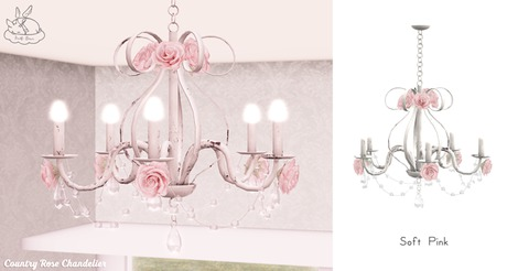 +Half-Deer+ Country Rose Chandelier [Soft Pink]