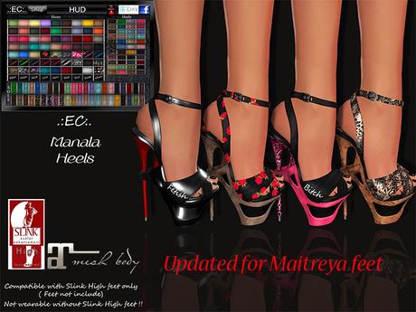 .:EC:. Bag Manala Heels [Slink&Maitreya High Feet] Updated !