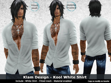 !Kool White Shirt Casual Urban - Fitted Mesh
