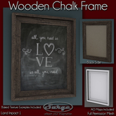 Wooden Chalk Frame - Full Permission Mesh - Low Impact