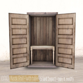 *ionic* Rustic Stall . with table